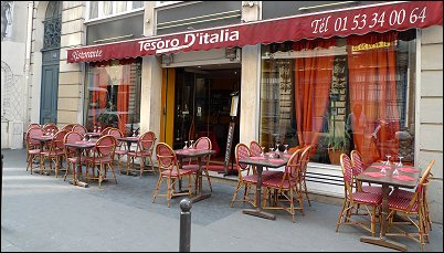 Tesoro Italian Restaurant Paris