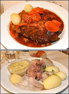 Photo restaurant paris Chartier - Paleron de boeuf et tête de veau