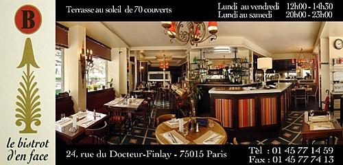 Restaurant le bistrot d 39 en face paris 15 me restaurant fran ais - Le bistrot d yves ...