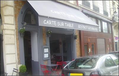 Restaurant carte sur table paris 1 er restaurant fran ais - Restaurant carte sur table cavaillon ...